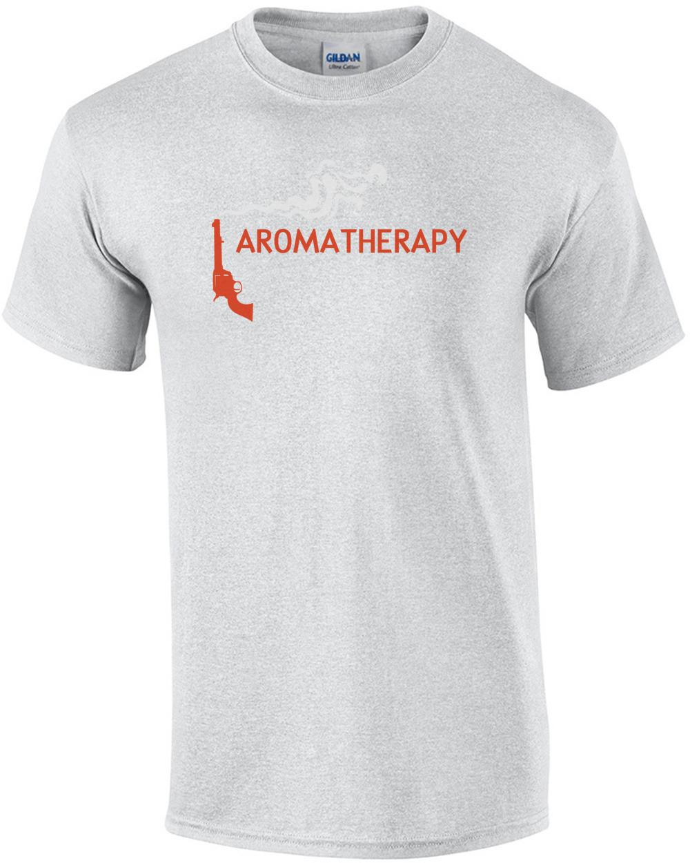 e8627ce285 Aromatherapy Pro Gun T-Shirt