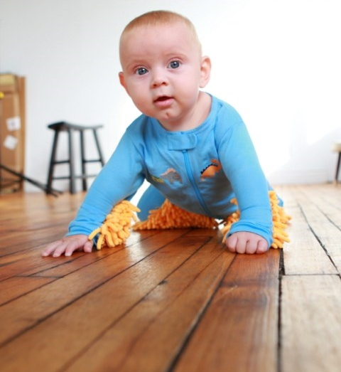 b0ae8fc20 BABY MOP - The onesie that cleans your floors.
