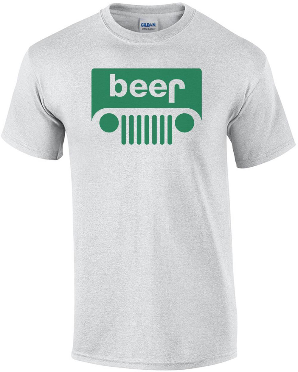 2a6c70b72 Beer Jeep Logo Parody Funny T-shirt