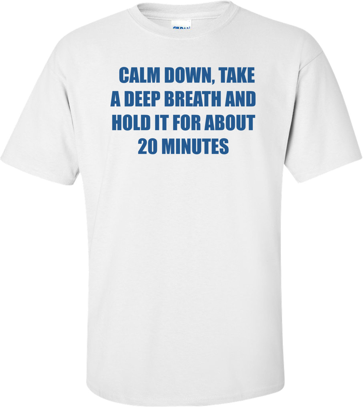 CALM DOWN, TAKE A DEEP BREATH AND HOLD IT FOR ABOUT 20 MINUTES Shirt
