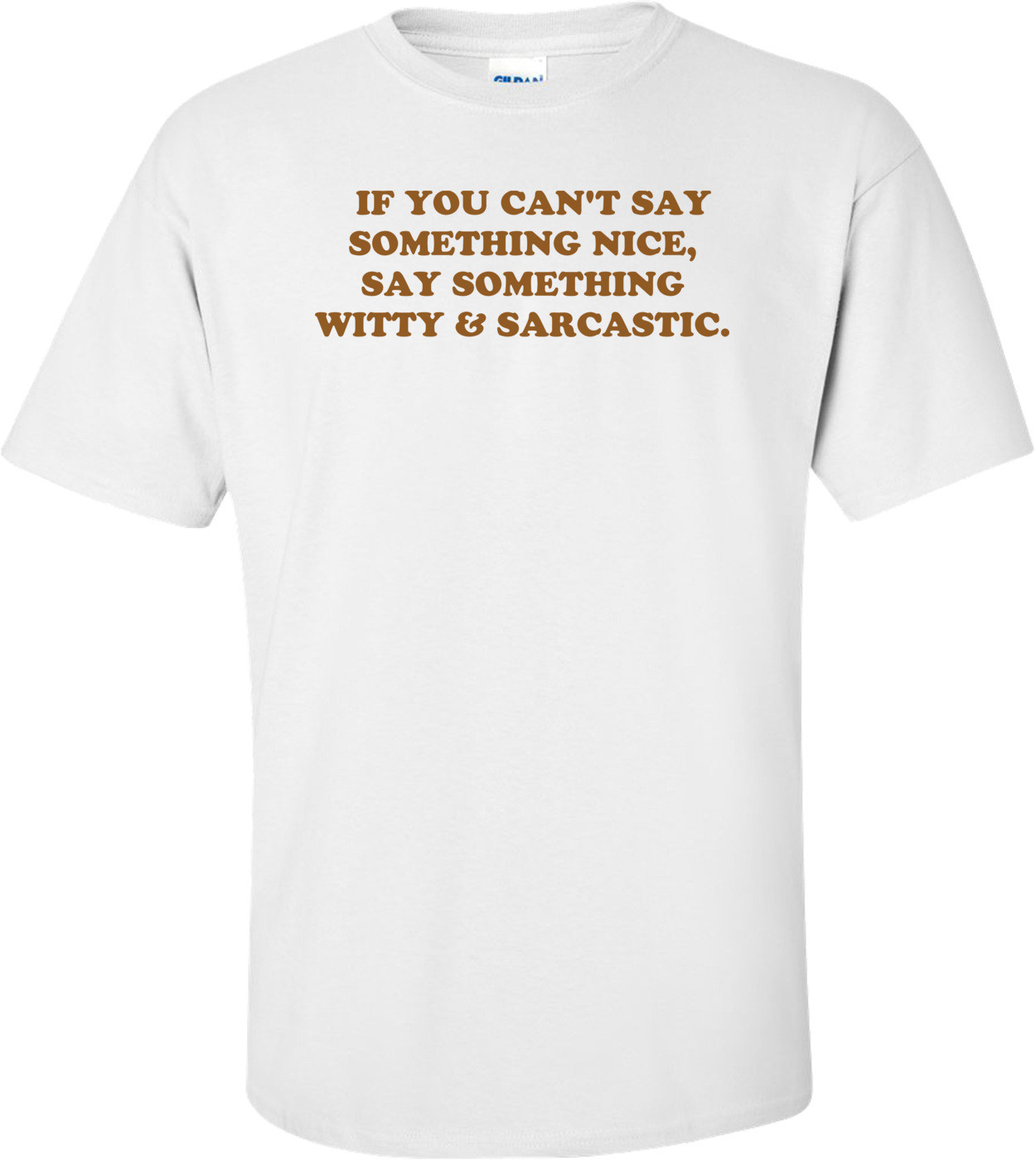 IF YOU CAN'T SAY SOMETHING NICE, SAY SOMETHING WITTY & SARCASTIC. Shirt