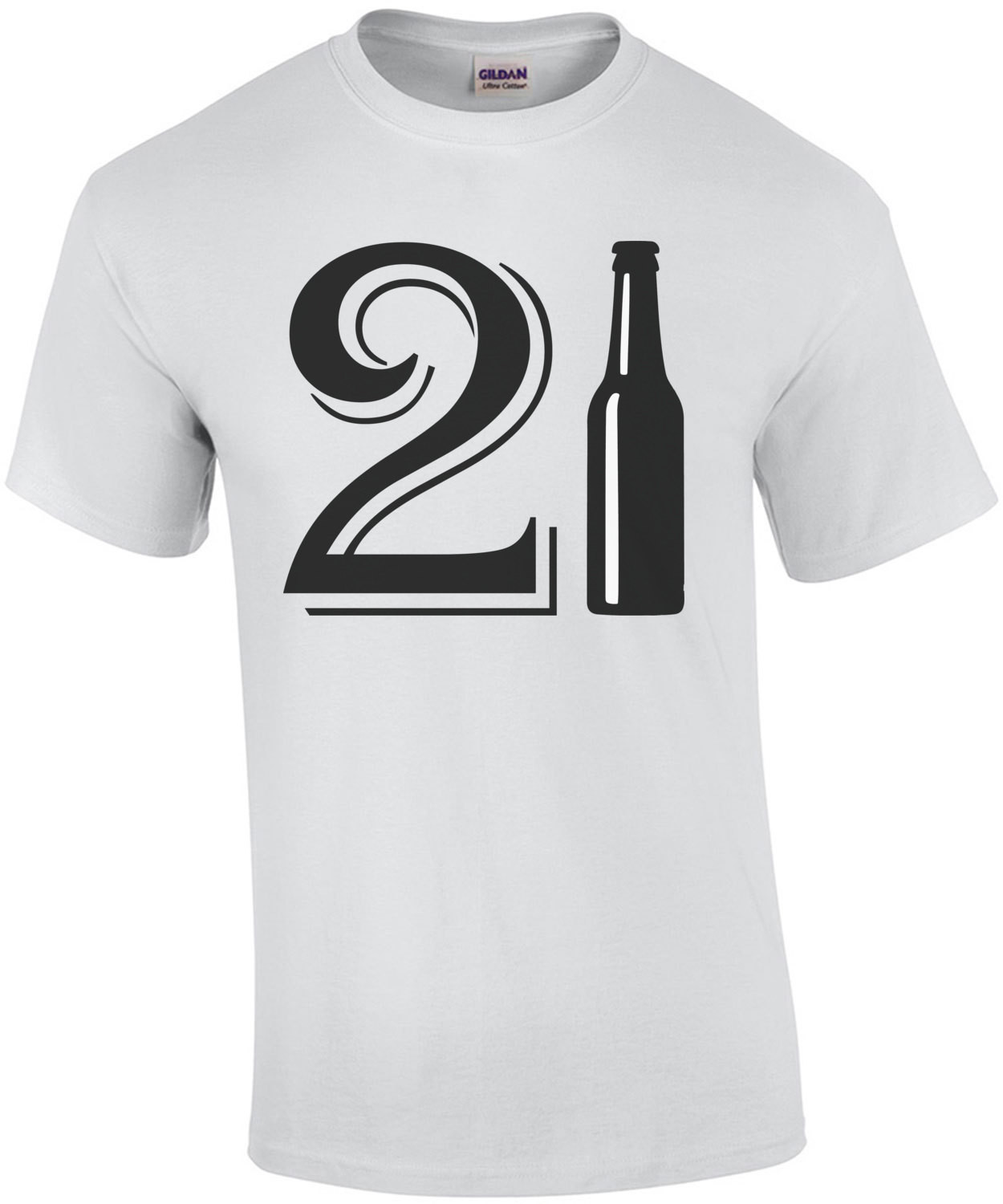 21 Birthday - beer bottle - happy 21 birthday t-shirt