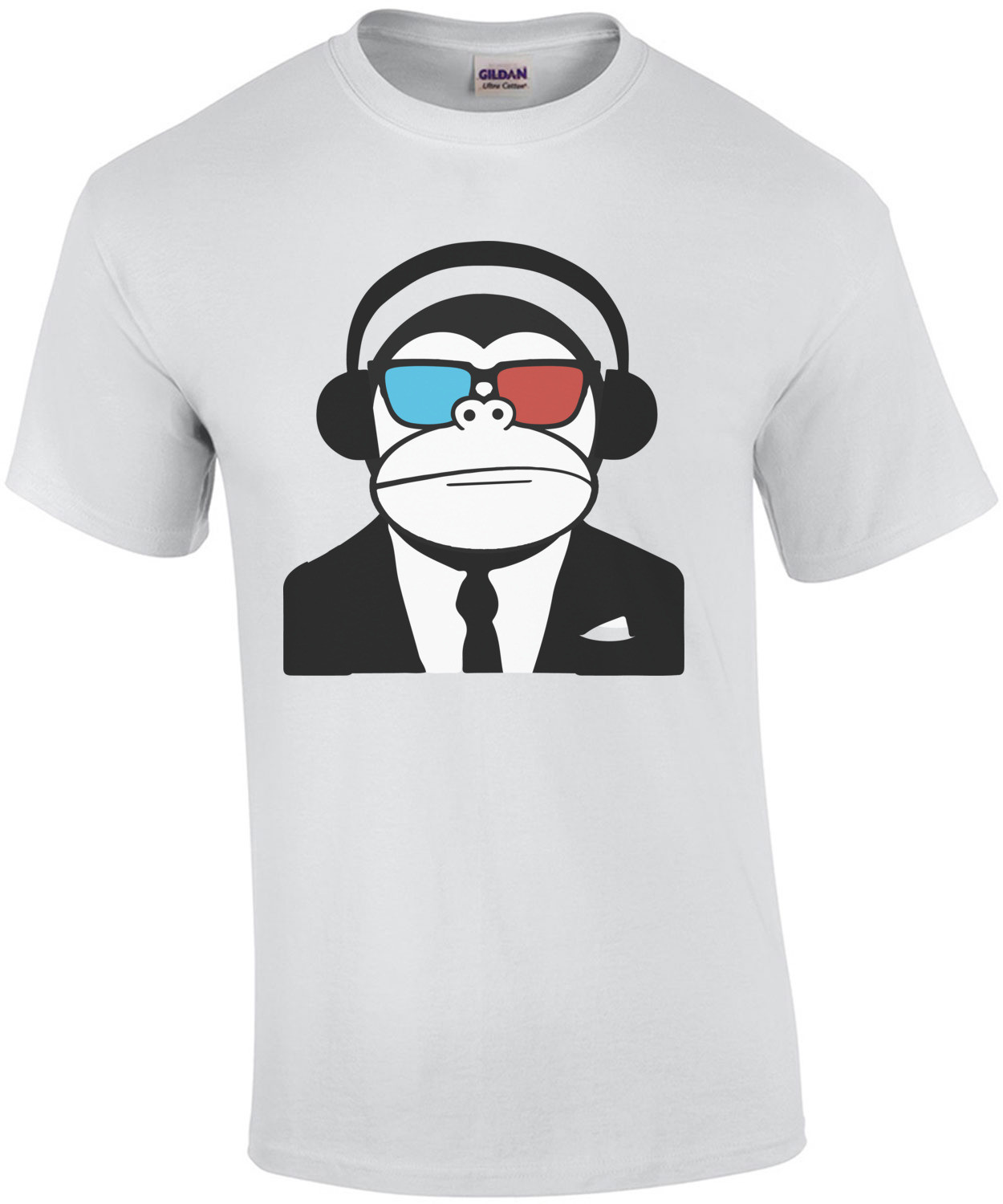 3D Ape Monkey Club Electro T-Shirt