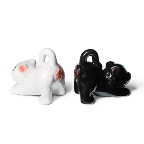 Cat's Butt Salt and Pepper Shaker