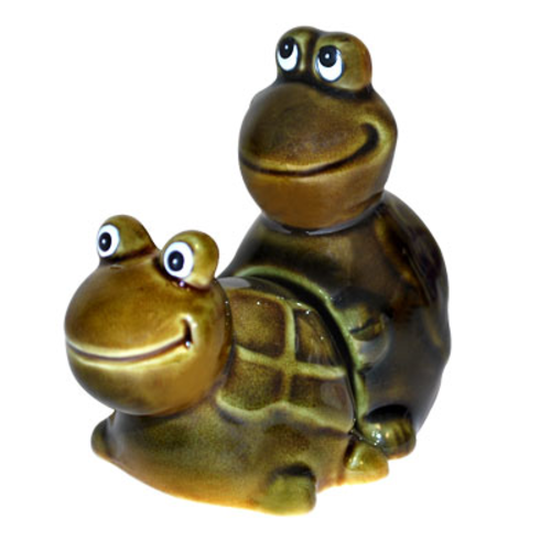 Faster! Faster! Turtle Salt and Pepper Shakers