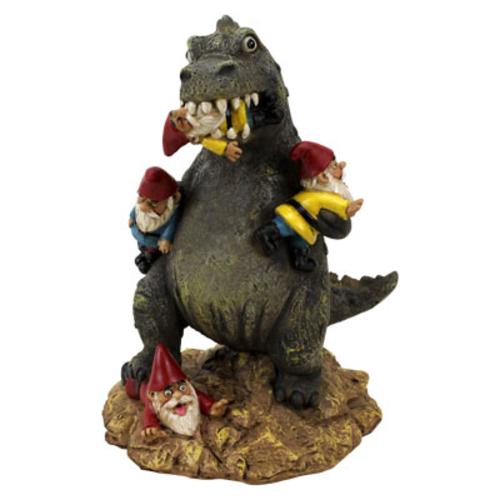 Garden Gnome T-Rex Massacre