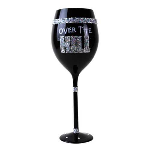 Over The Hill Wine Glass