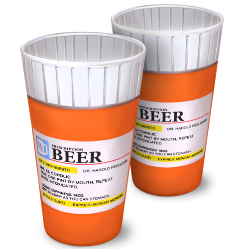 Prescription Pint Glasses - Set of 2