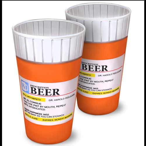 Prescription Pint Glasses - Set of 2
