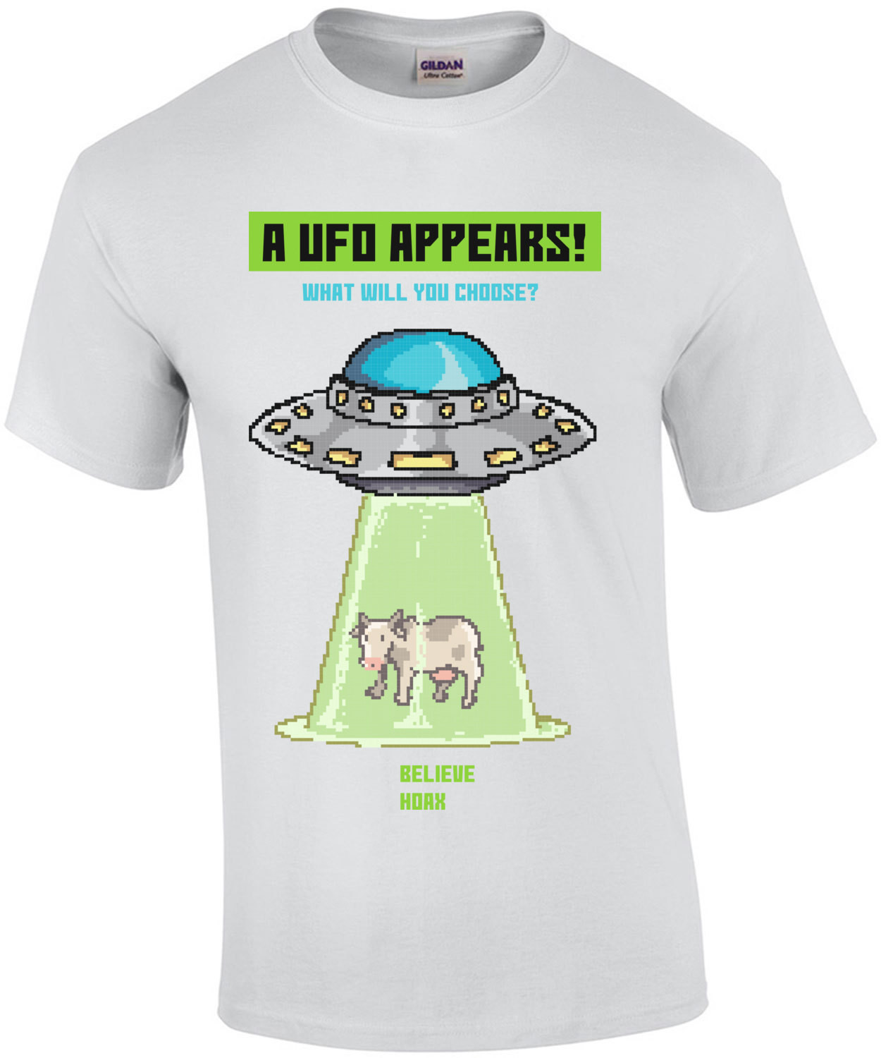 A Ufo Appears What Will You Choose Believe Or Hoax Retro T-Shirt