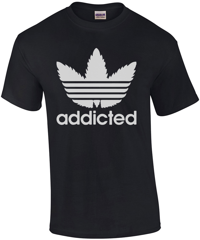 Addicted - Adidas Parody T-Shirt
