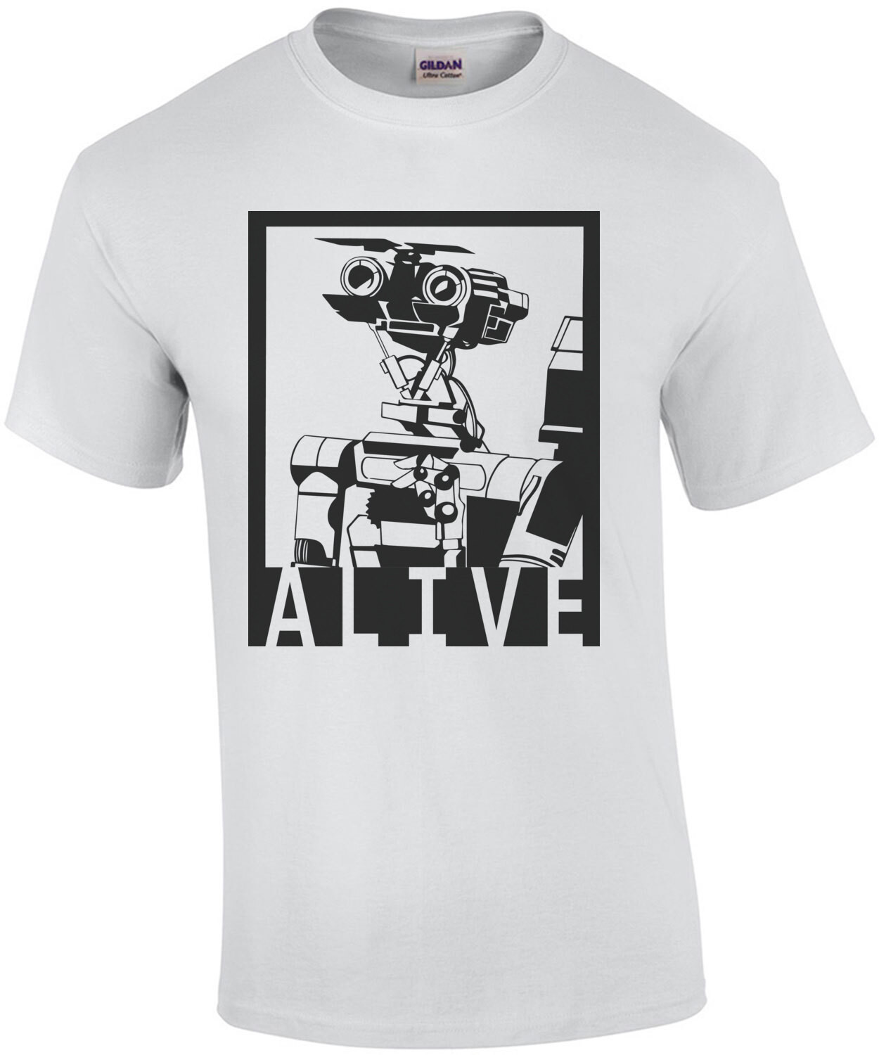 Alive - Johnny 5 - Short Circuit - 80's T-Shirt