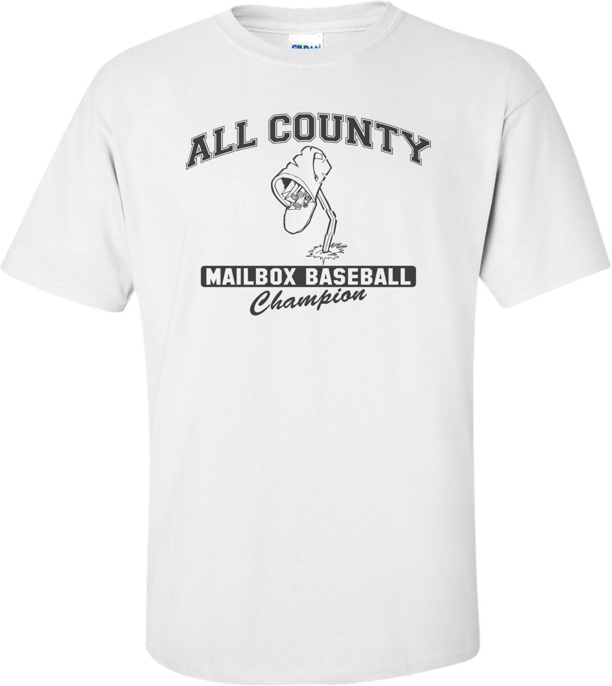 All County Mailbox Baseball Champion T-shirt