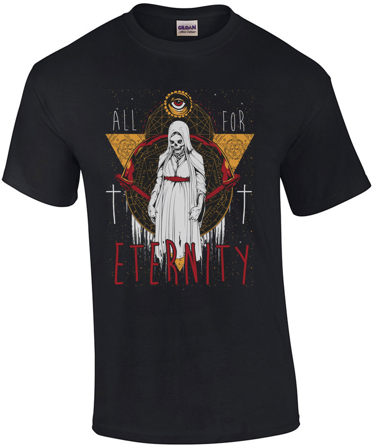 All For Eternity Gothic Grim Reaper T-Shirt
