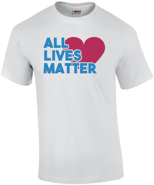 All lives matter - pro cop t-shirt