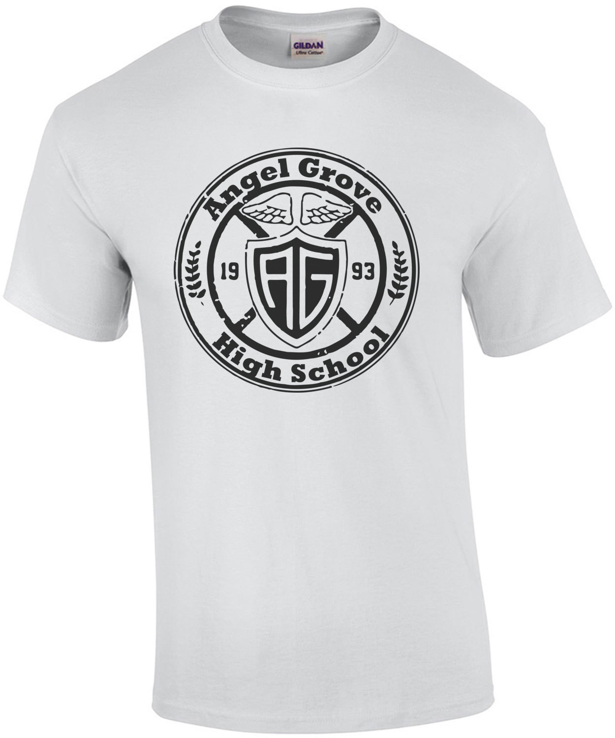 Angel Grove High School - Mighty Morphin Power Rangers - Cool 90's T-Shirt