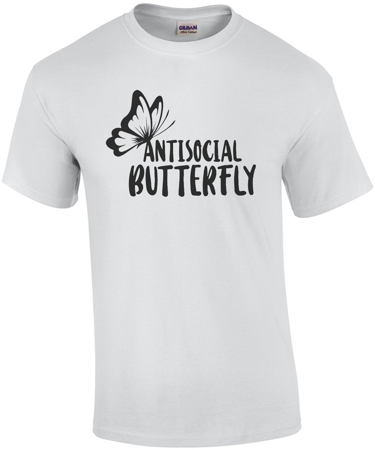 Antisocial Butterfly - Funny sarcastic t-shirt