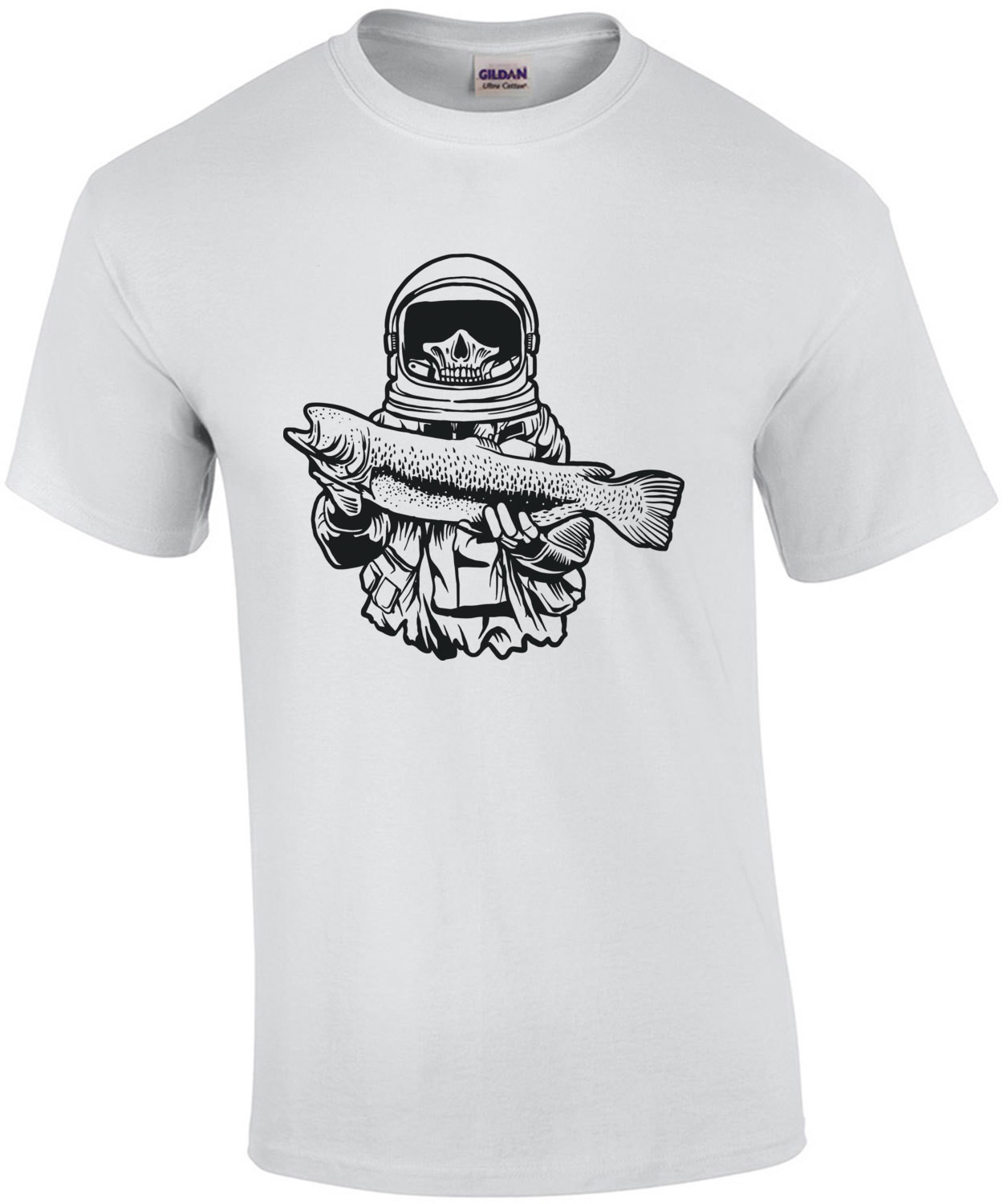 Astronaut Fishing Gothic T-Shirt