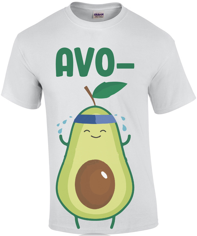 Avo-Cardio - funny exercise shirt - pun t-shirt