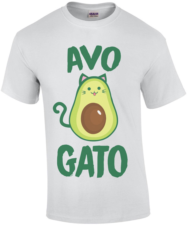 Avogato - funny cat avocado t-shirt