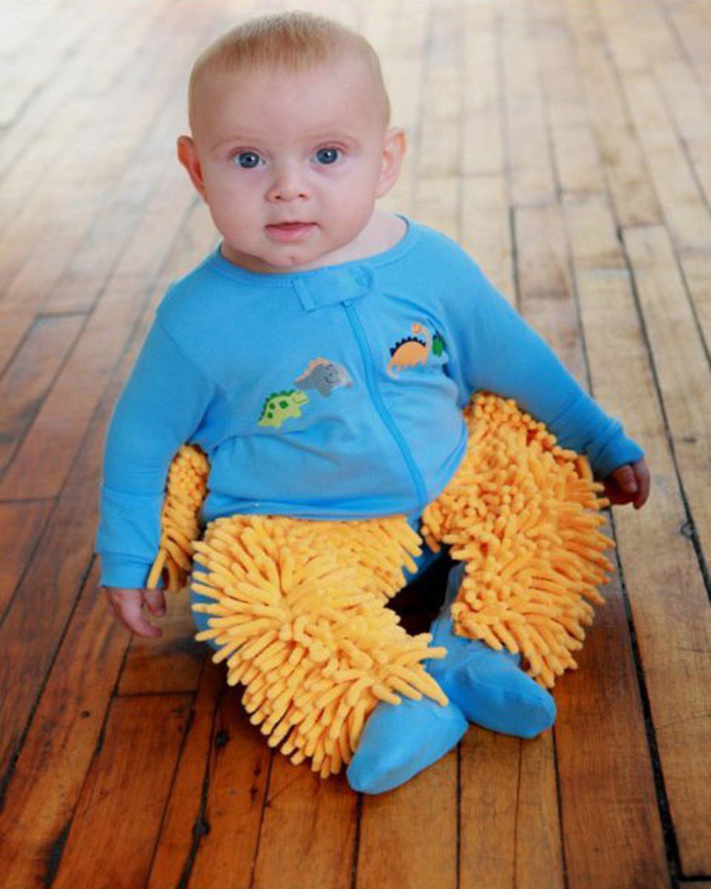 BABY MOP - The onesie that cleans your floors.