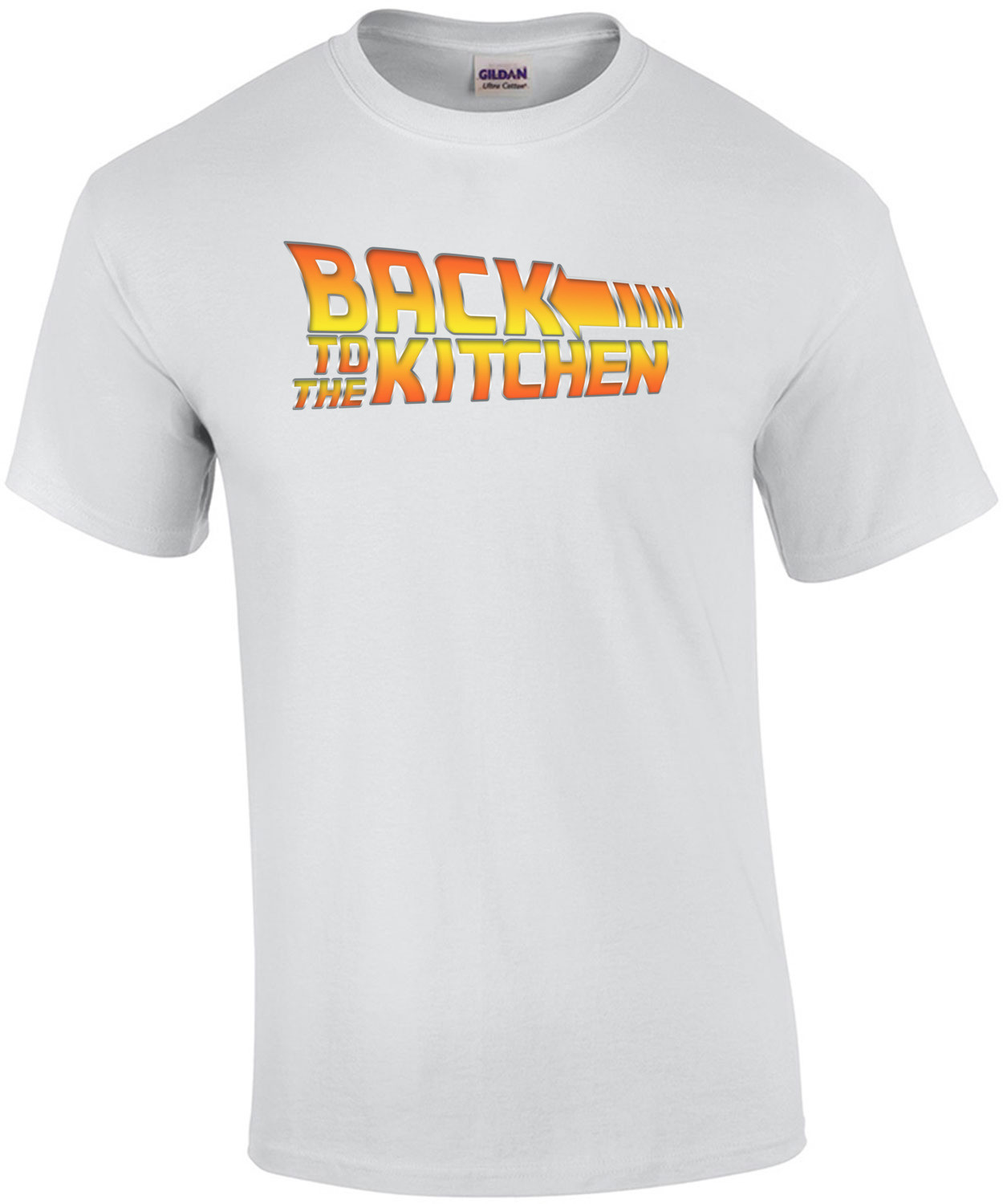 Back To the Kitchen - Back to the future parody t-shirt.