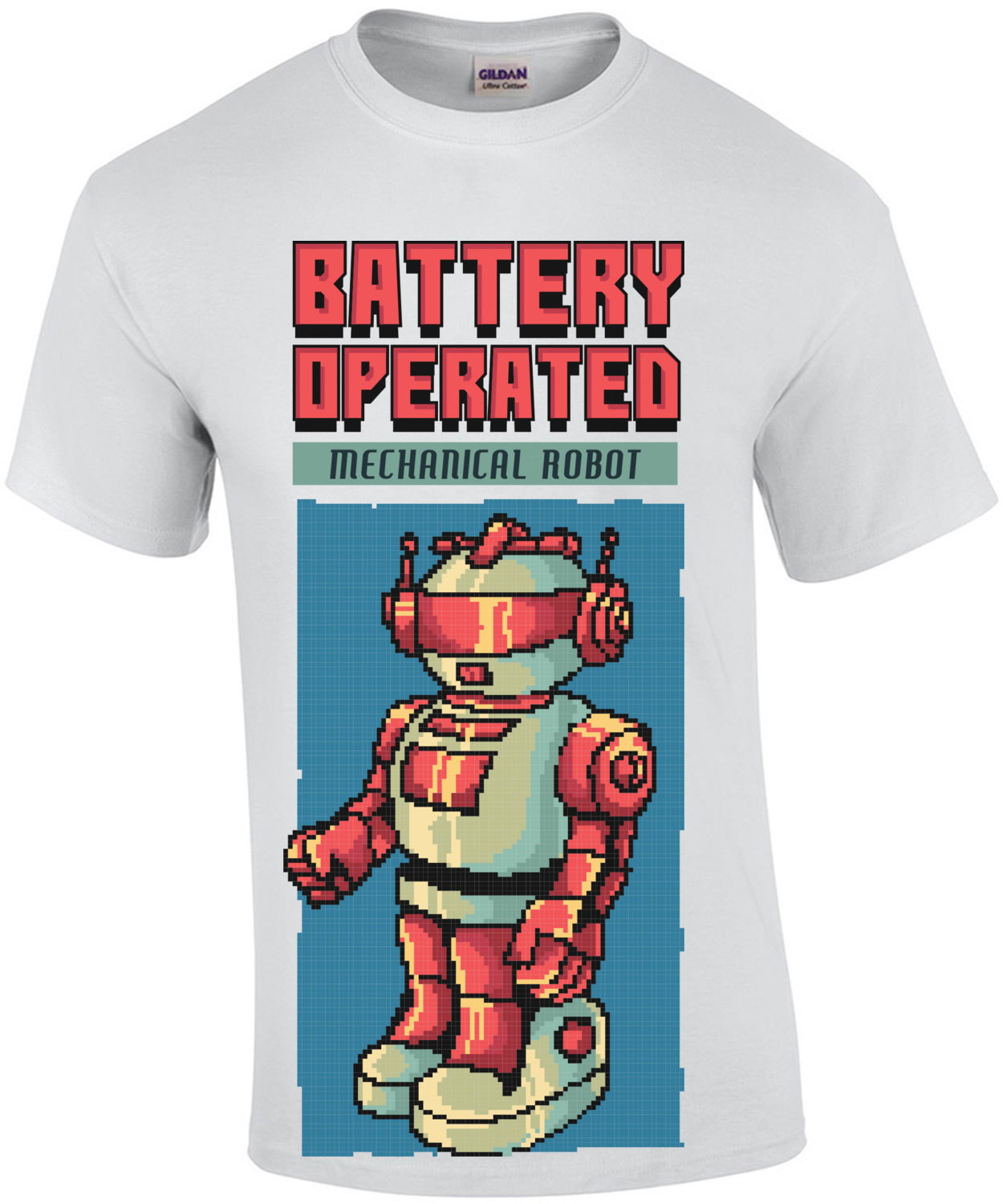Battery Operate Mechanical Robot Retro Toy T-Shirt