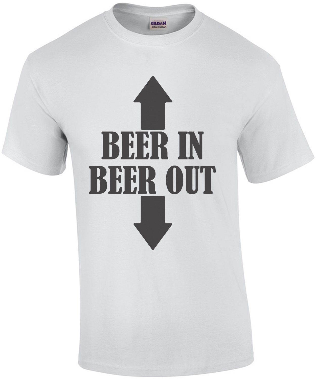 Beer in - Beer out - funny beer drinking t-shirt