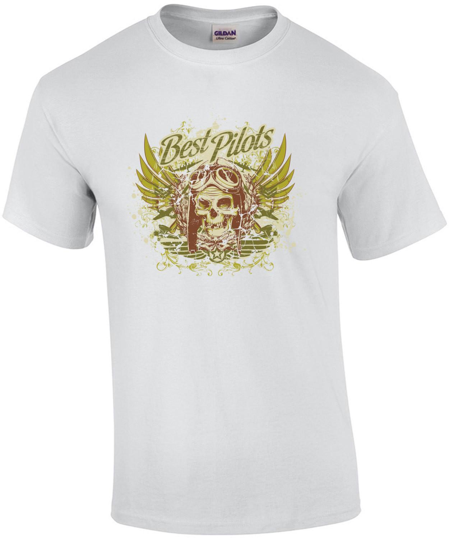 Best Pilots Skull Gothic Pilots T-Shirt