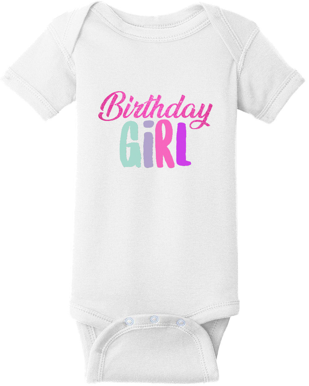 Birthday Girl Shirt. Girl's Happy Birthday. Custom T-Shirt with your girl's name and age on the back. Personalized Birthday T-Shirt