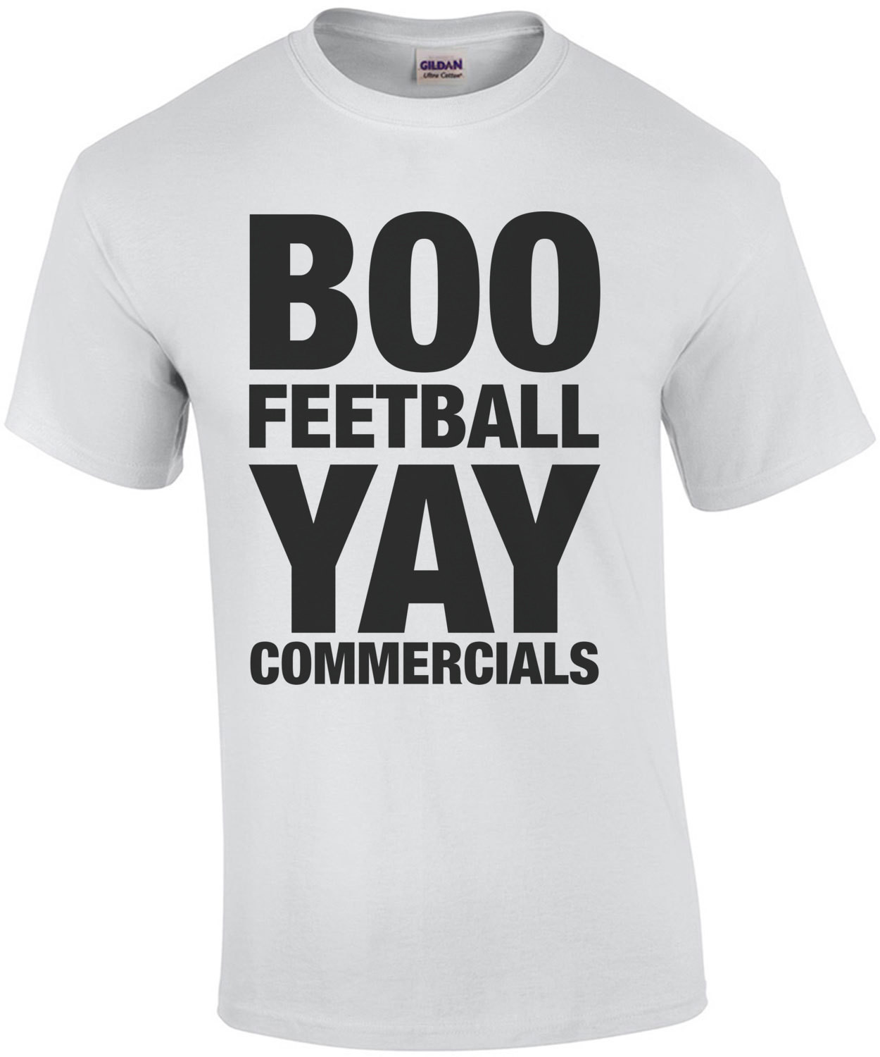 Boo Feetball Yay Commercials Funny Super Bowl Shirt
