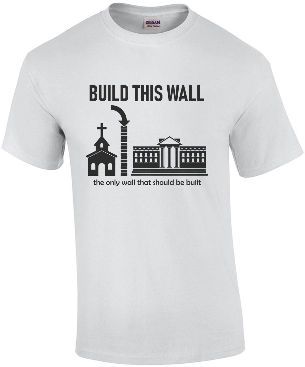 Build this wall - the only wall that should be built. Political T-Shirt