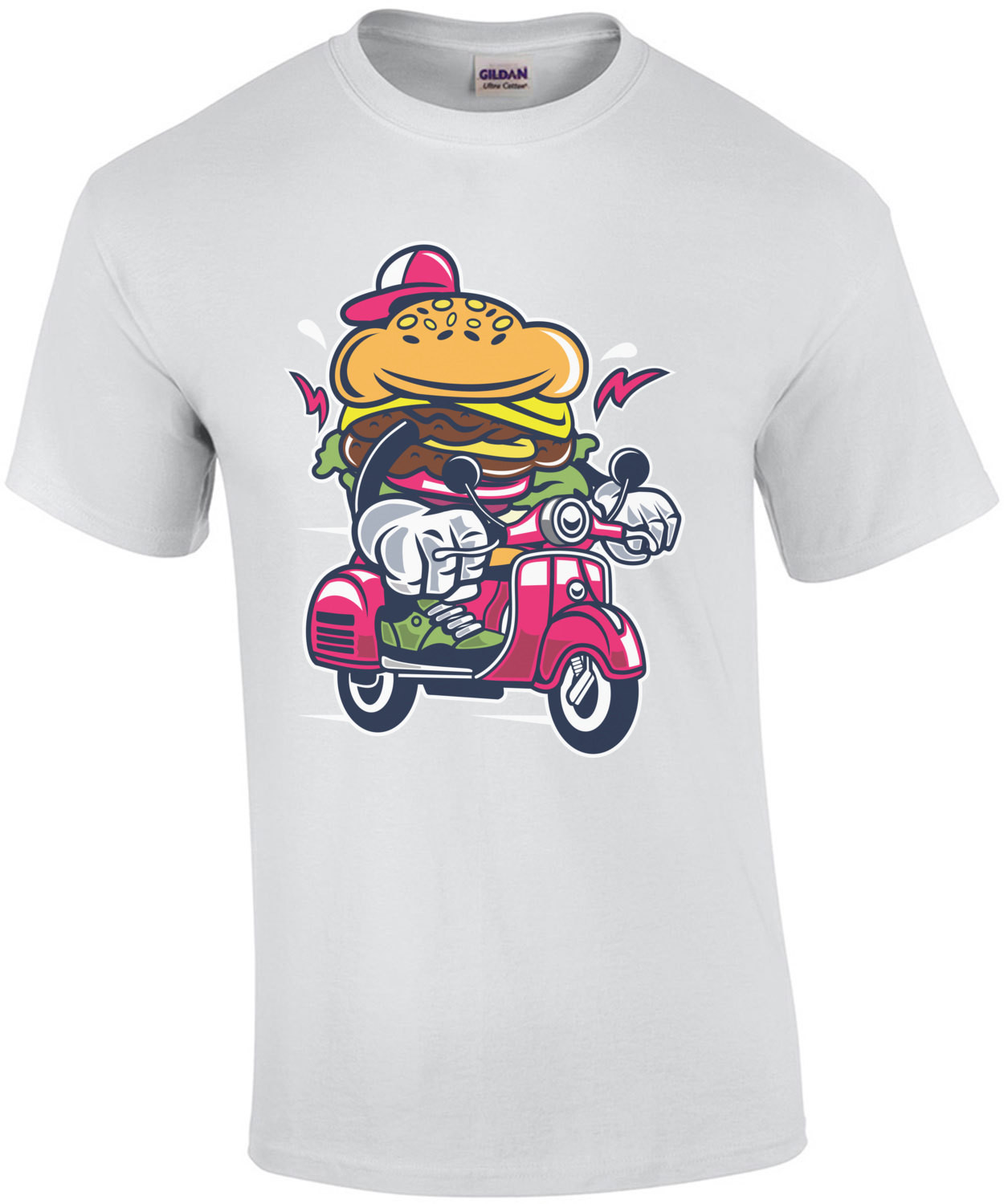 Burger On A Scooter T-Shirt