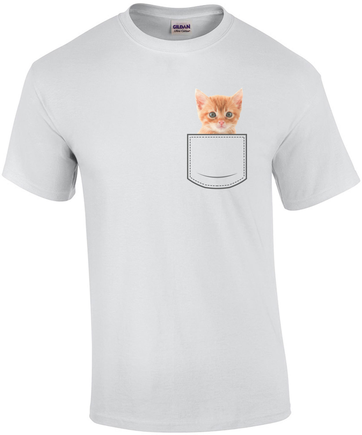 Cat in pocket - pocket pet t-shirt