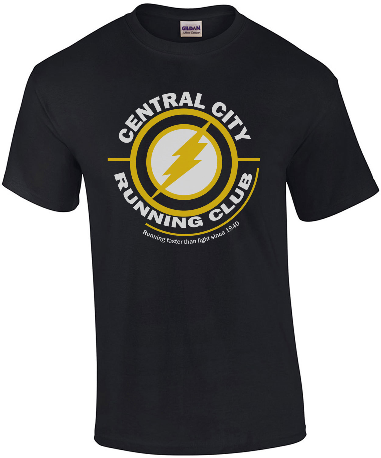 Central City Running Club - Running faster than light since 1940 - the flash t-shirt