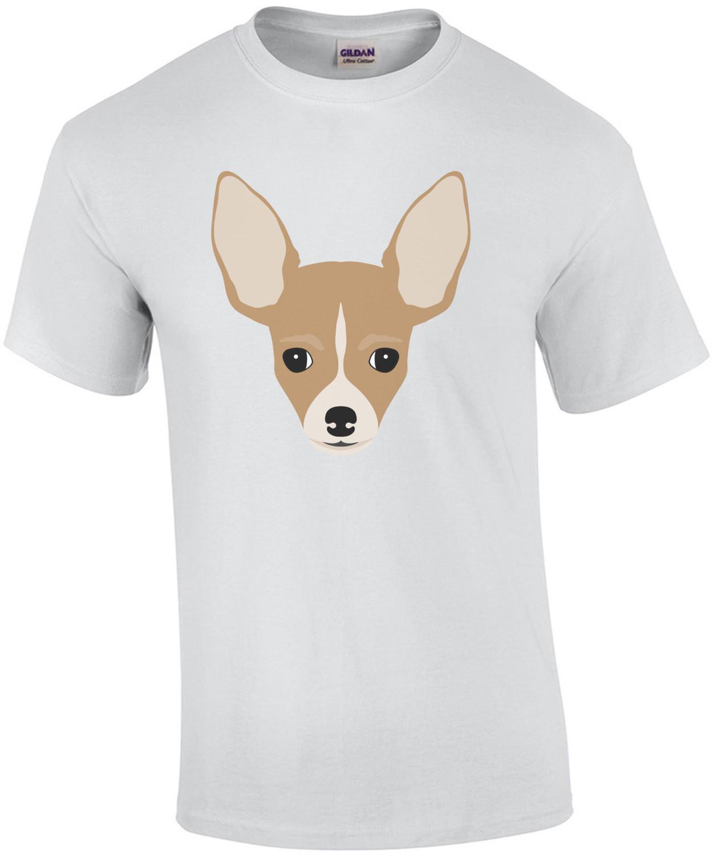 chihuahua head - chihuahua t-shirt