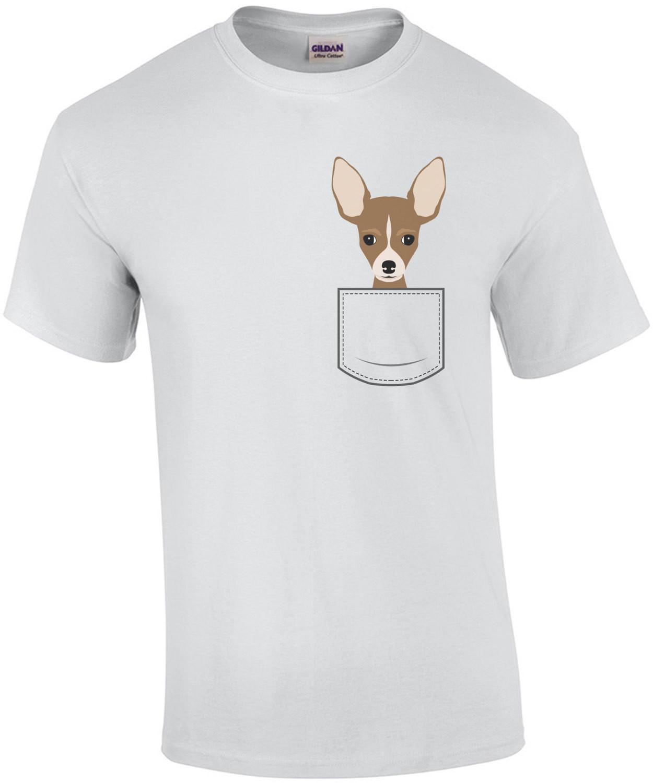 Chihuahua in pocket - pocket pet t-shirt