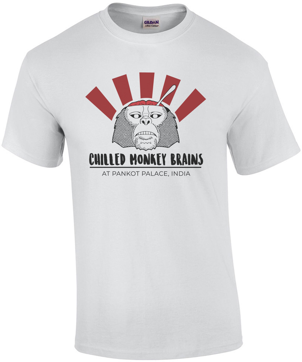 Chilled Monkey Brains - at Pankot Palace India - Indiana Jones and the Temple of Doom - 80's T-Shirt