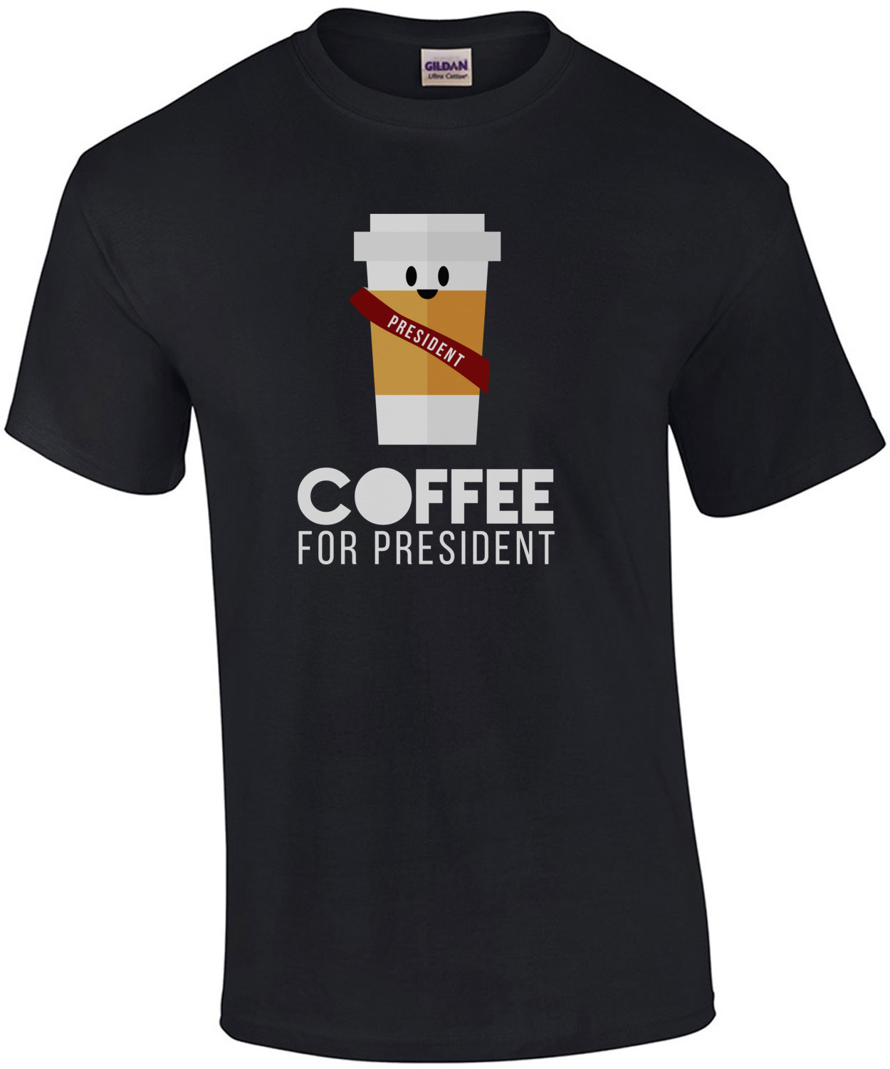 Coffee for president t-shirt