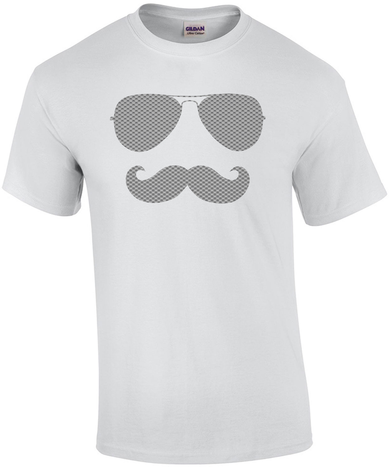 Cool Mustache Sunglasses. Funny Cool T-Shirt
