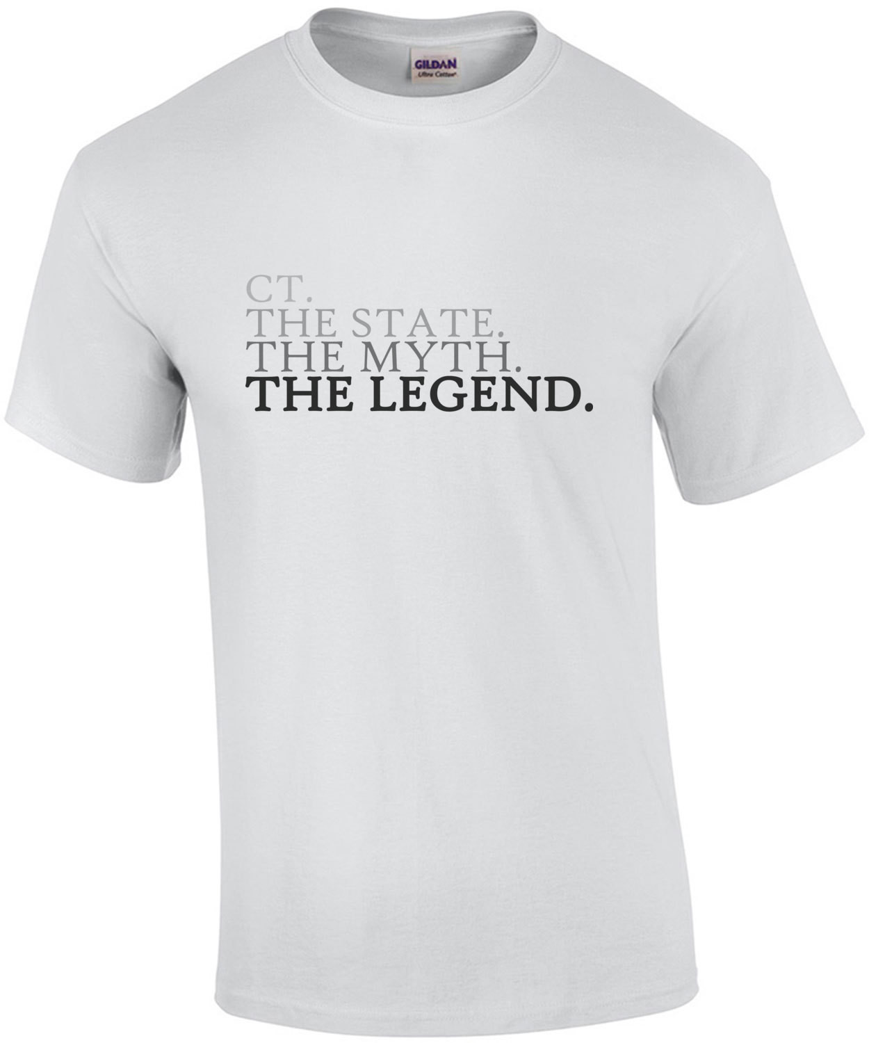 CT. The State. The Myth. The Legend. Connecticut T-Shirt