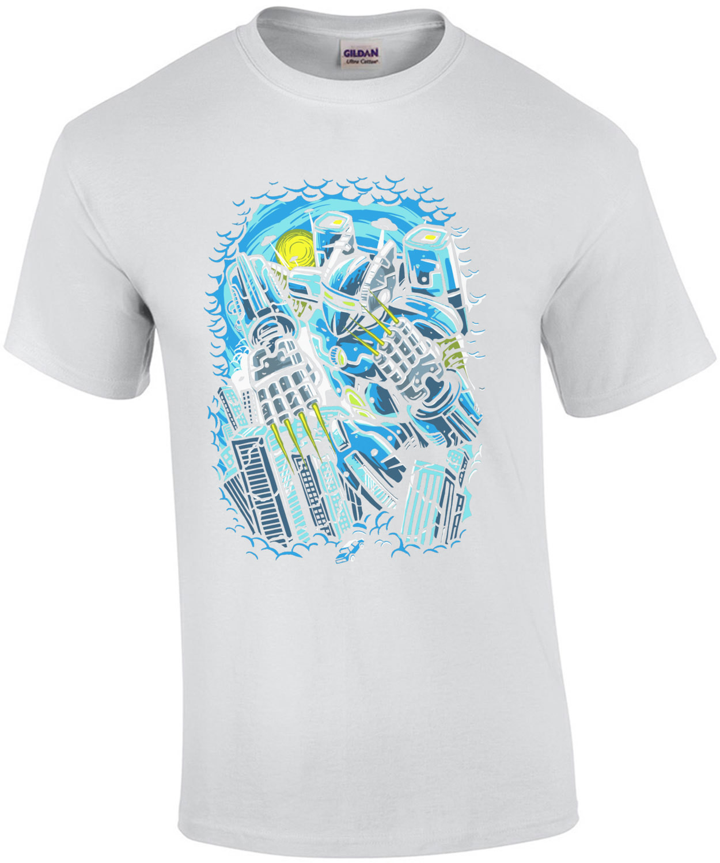 Destroy The City Futuristic Robot T-Shirt
