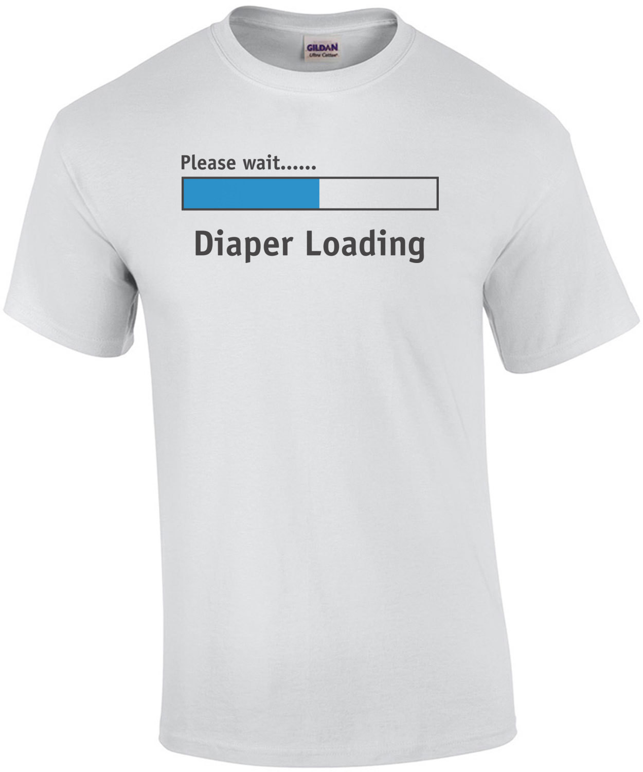Diaper Loading Please Wait Baby Shirt