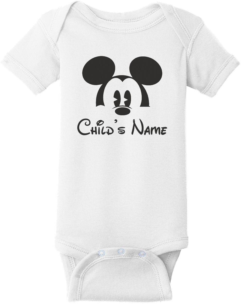 Disney Family Group Shirts - Mickey Child's Name - Disney T-Shirt