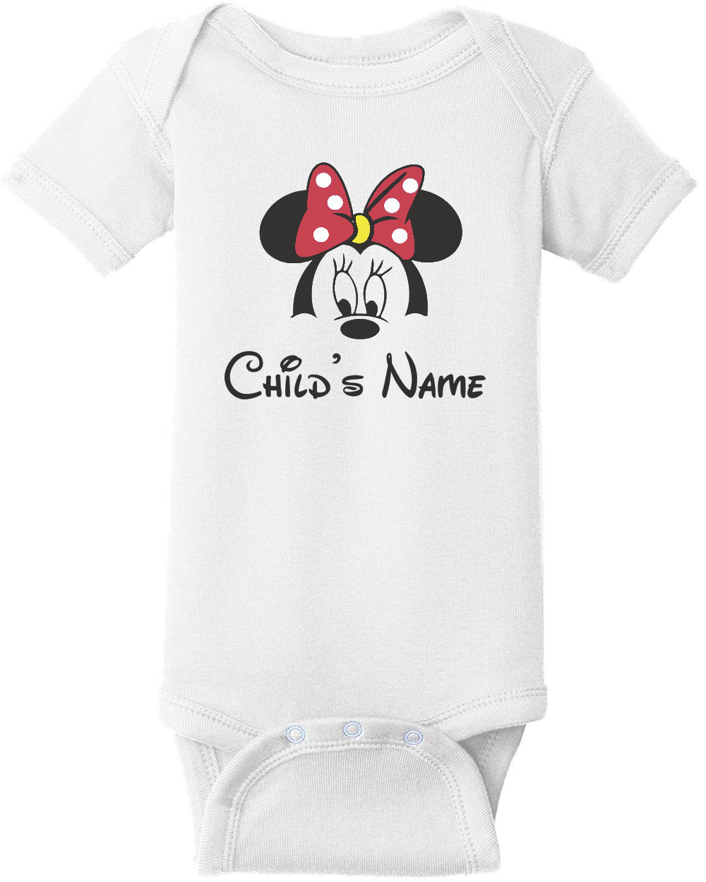 Disney Family Group Shirts - Minnie Mouse - Child's Name - Disney T-Shirt