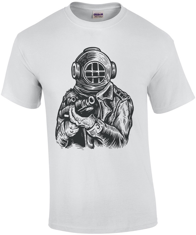Diver Soldier Steampunk T-Shirt