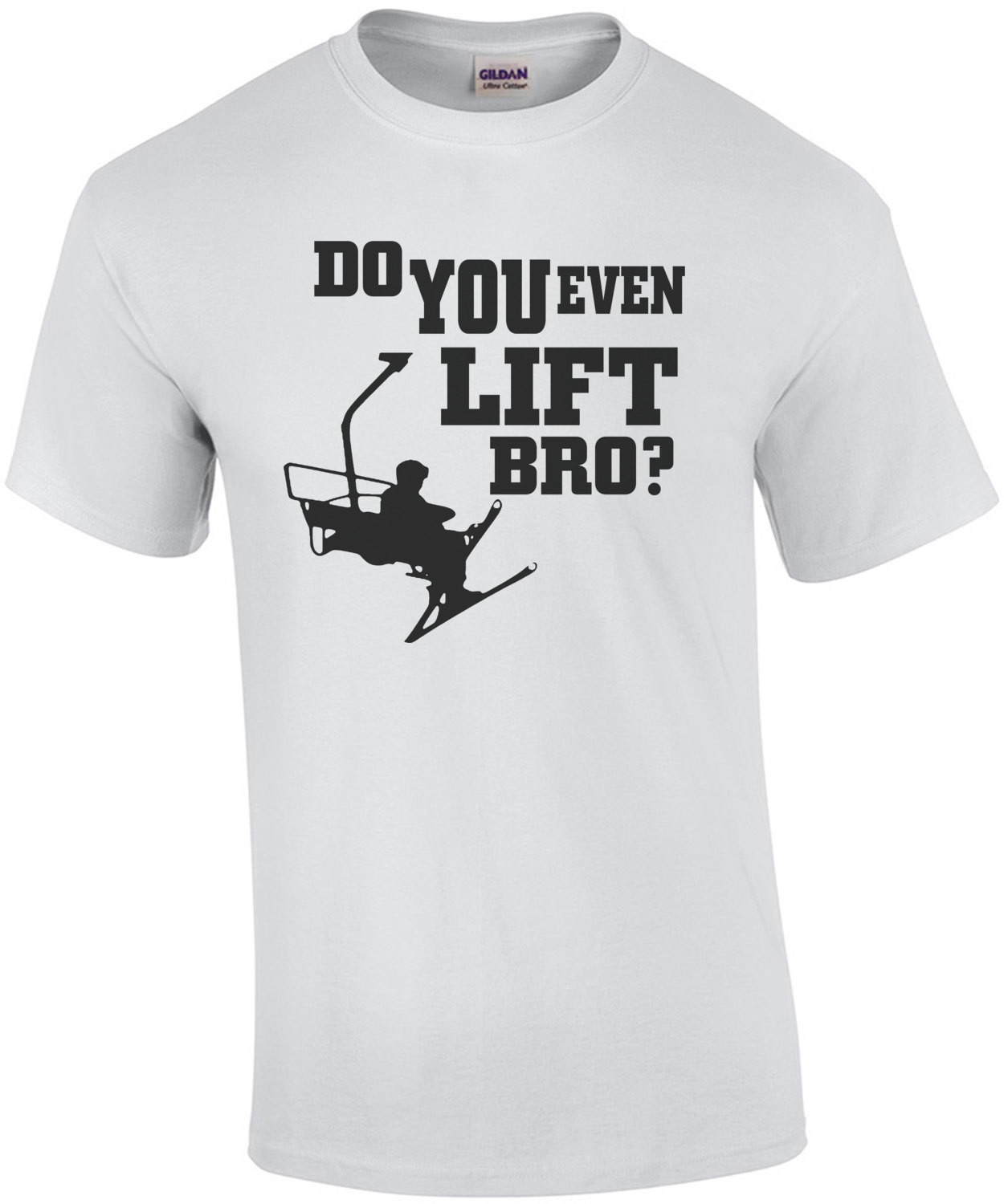 Do You Even Lift Bro Skiing T-Shirt
