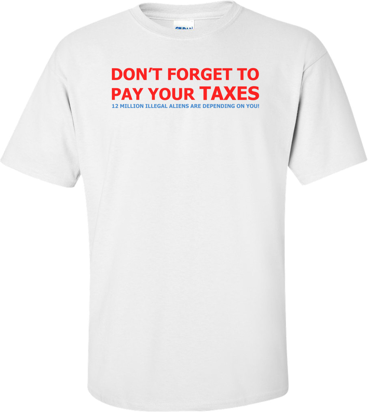 Don't Forget To Pay Your Taxes T-shirt