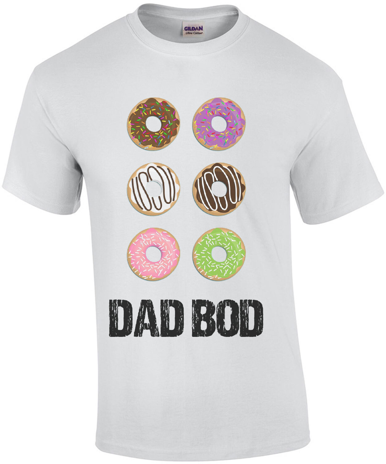 Donut Dad Bod - Funny donut dad t-shirt