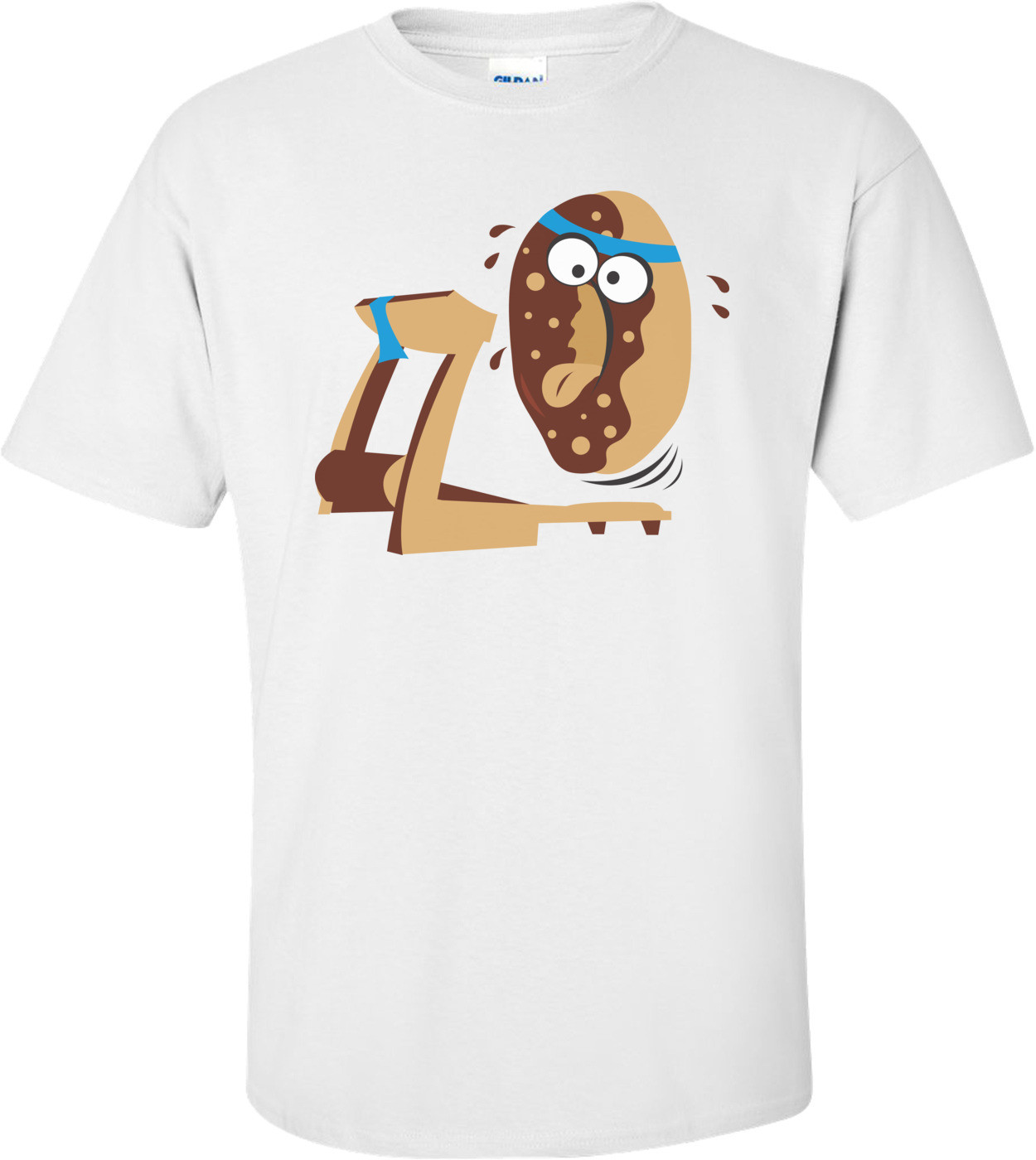Donut On Treadmill Funny Shirt